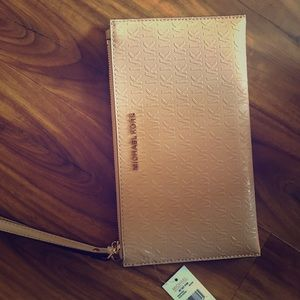 Michael Kors zip clutch, NWT